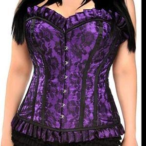 Daisy Corsets purple and black lace corset